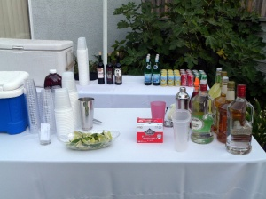 Table bar setup