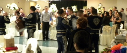 Mariachis serenade the guests of honor