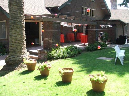 The 20th Century Women's Club back yard