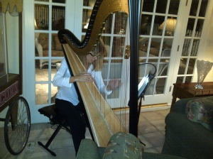 Michelle Witson Stone playing harp