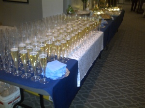 Champagne waiting for drinkers