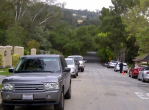 Street in La Canada outside event