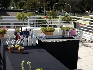 Portable bar setup in Beverly Hills