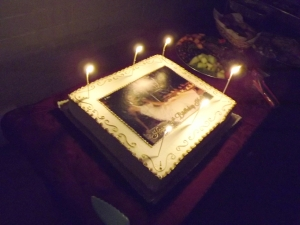 The birthday cake