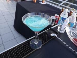 Blue Slushy Martini