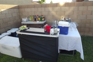 My portable bar and table