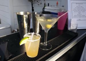 Cadillac Margarita and Dirty Vodka Martini