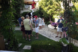 Guests enjoying the Fourth of July