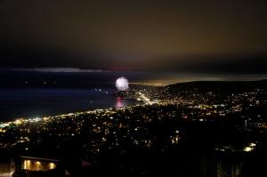 Fireworks over Newport Beach