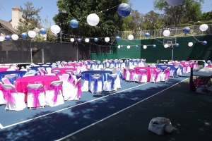 Tennis Court turned into wedding venue