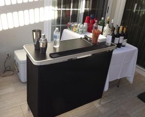 Portable bar on Studio City patio