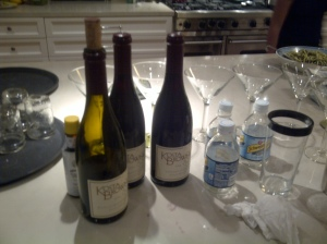 Wine bottles at Beverly  Hills dinner party