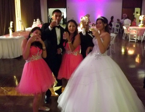 The princess of the Quincinera and friends
