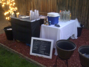 Portable bar set up