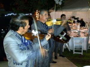 Mariachis at Palmdale engagement party