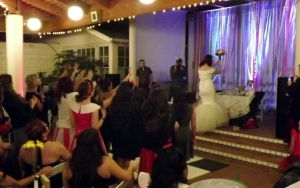 The bouquet toss