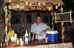 Me behind the bar in Venice, California