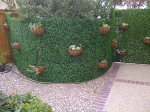 Artificial hedge by Geranium Street
