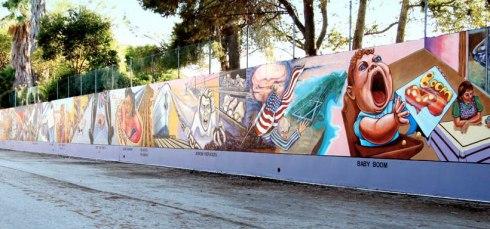Great wall of LA in the neighborhood