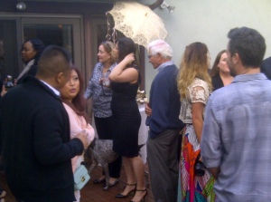 Guests mingle in Valley Glen