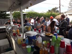 Long poolside bar in Glendora