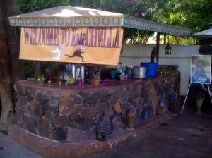 Poolside bar at the Korokia