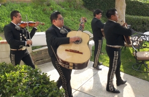 Mariachis making a grand entrance