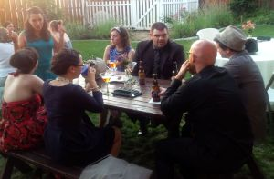 Guests enjoying martinis in Altadena