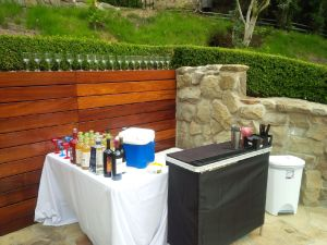 Portable bar set up in Bel Aire