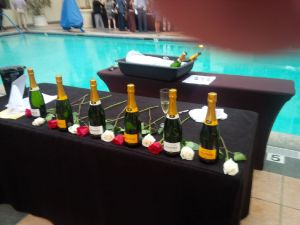 Champagne waiting to be tasted