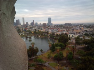 View of MacArthur Park from Cement Building
