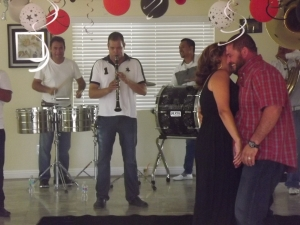 Full banda playing
