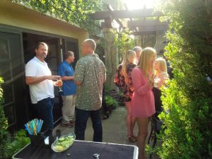 Guests mingle in Newport Beach