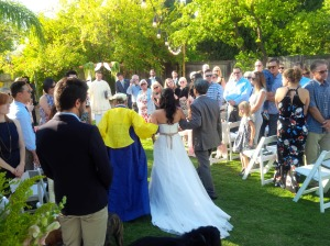 Back yard wedding in Northridge