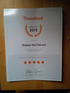 Certificate from Thumbtack