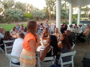 Guests at Que Syrah rehearsal dinner