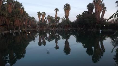 The lagoon in Coachella