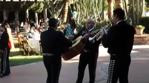 Mariachis at Halloween wedding