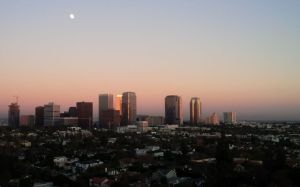 View of Century City at dusk