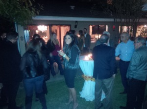 Guests mingle in Glendale