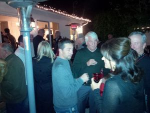 Guests mingle in Sierra Madre
