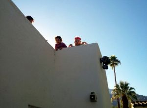Kids hiding on the roof