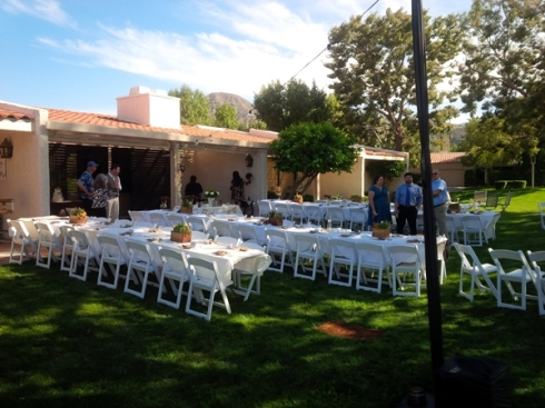 Backyard Wedding In Indian Wells